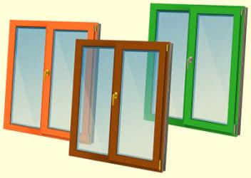 купить цветные пластиковые окна