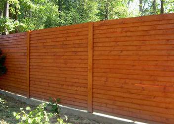 деревяный забор