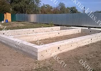 ленточный мелкозаглубленный фундамент для строительства