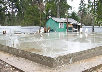 фундамент плиточный монолитный
