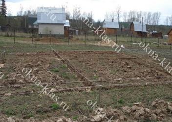 планировка участка под фундаментные работы