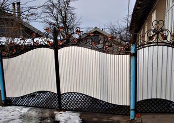 ворота на заказ из профнастила