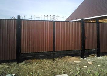 гаражные ворота из профнастила