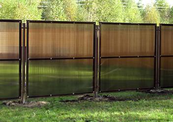 забор поликарбонатный