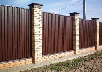 Забор металлопрофиль